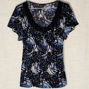 STYLE & CO FLORAL SCOOP NECK BLOUSE